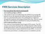 firn services description9