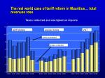 the real world case of tariff reform in mauritius total revenues rose
