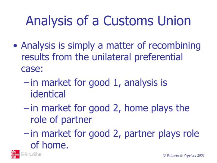 Analysis of a Customs Union