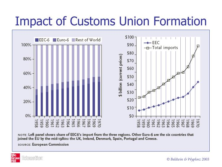 Impact of Customs Union Formation