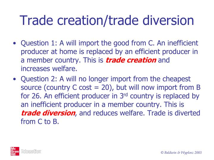 Trade creation/trade diversion