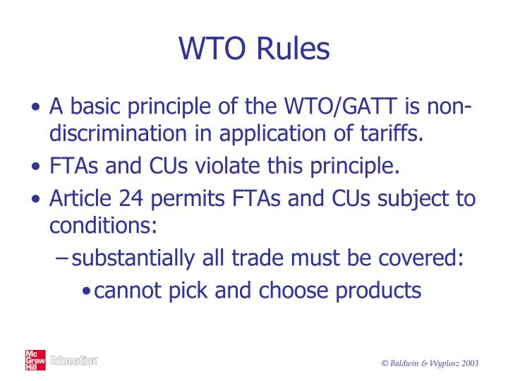 WTO Rules
