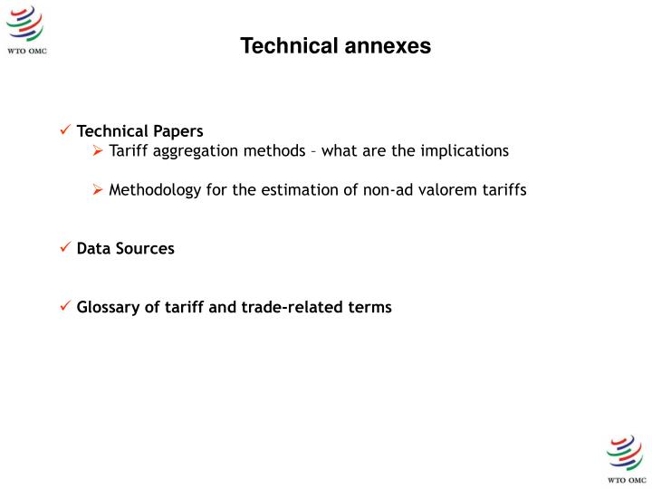 Technical annexes