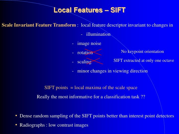 Local Features – SIFT