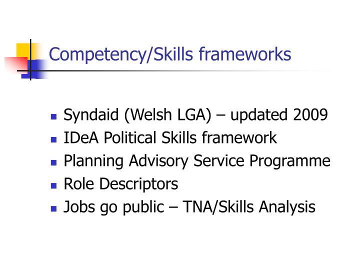 Competency/Skills frameworks