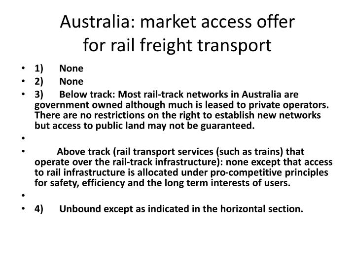 Australia: market access offer