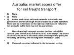 australia market access offer for rail freight transport