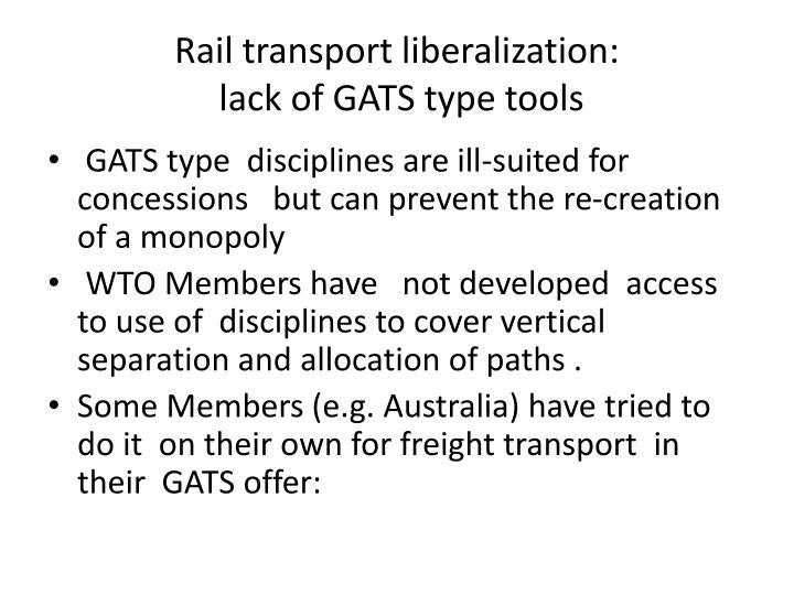 Rail transport liberalization: