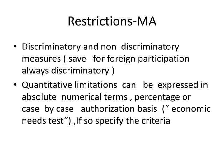 Restrictions-MA