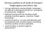 services auxiliary to all mode of transport freight agency and others tips