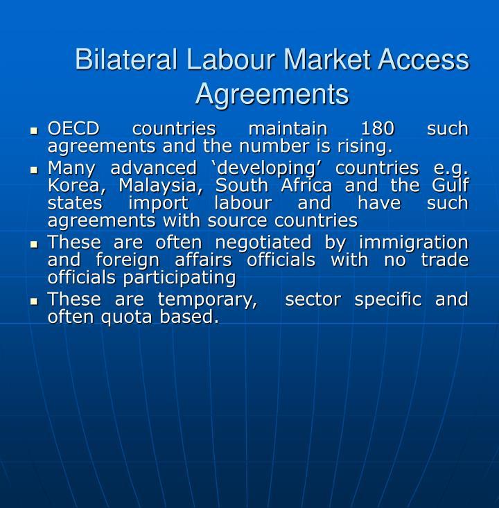 Bilateral Labour Market Access Agreements