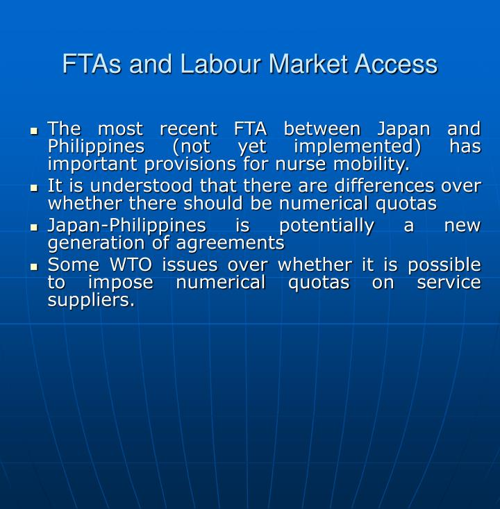 FTAs and Labour Market Access