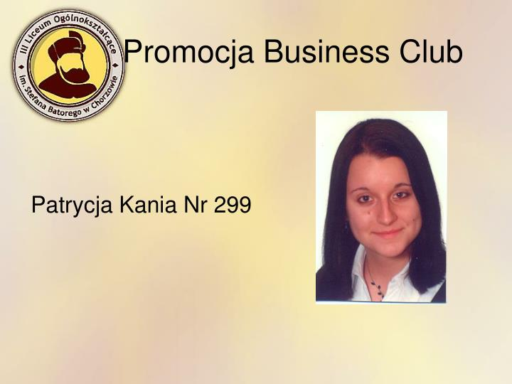 Promocja Business Club