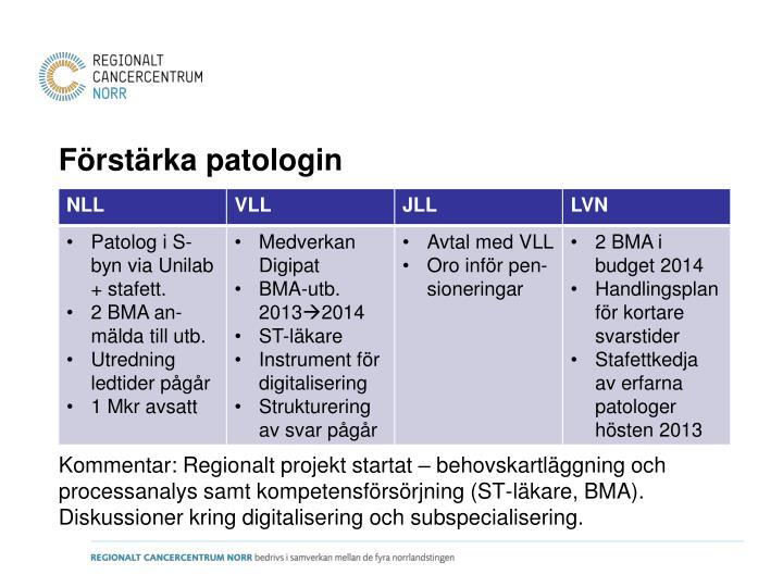 Förstärka patologin