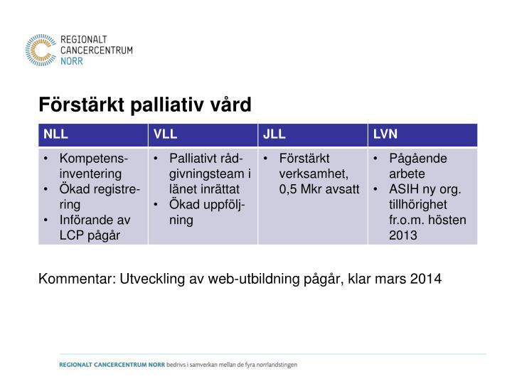 Förstärkt palliativ vård