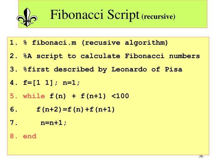 Fibonacci Script