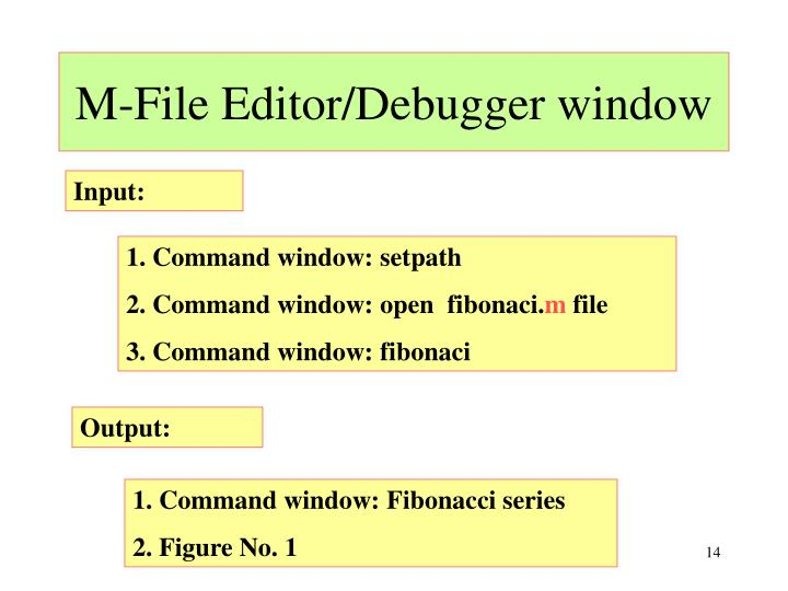 M-File Editor/Debugger window