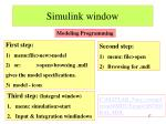 simulink window