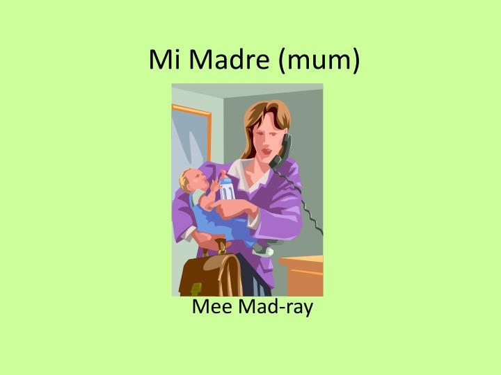 Mi Madre (mum)