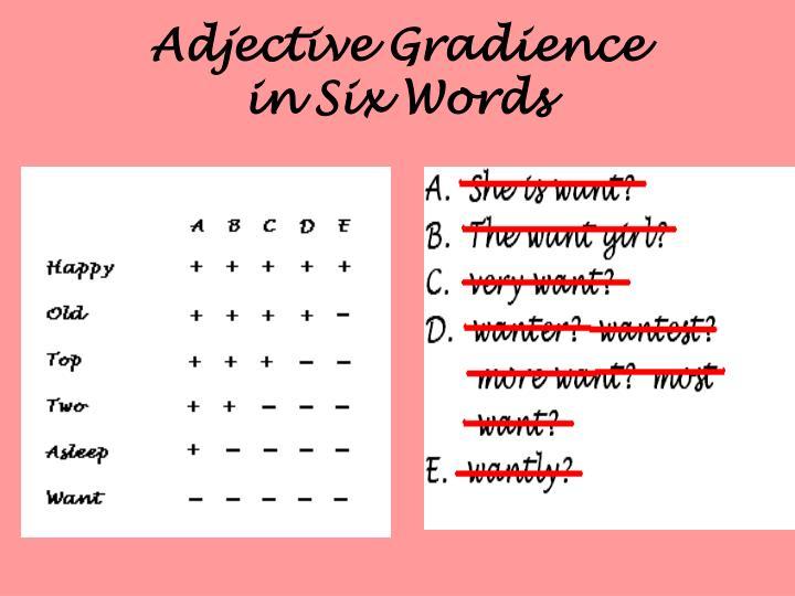 Adjective Gradience