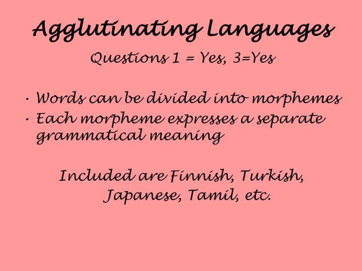 Agglutinating Languages