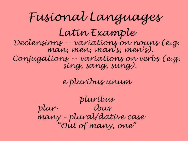 Fusional Languages