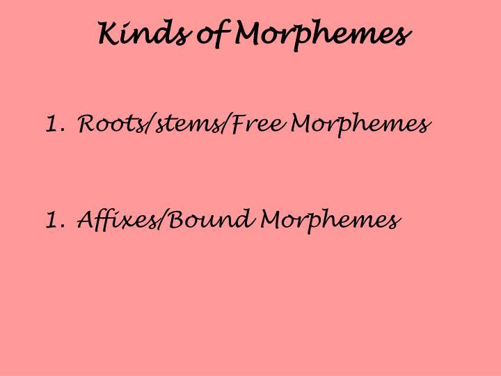 Kinds of Morphemes