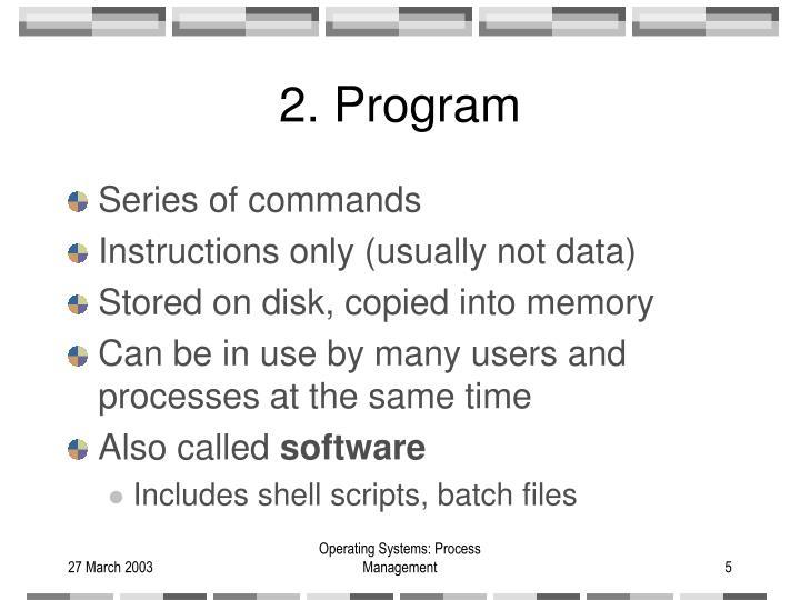 2. Program