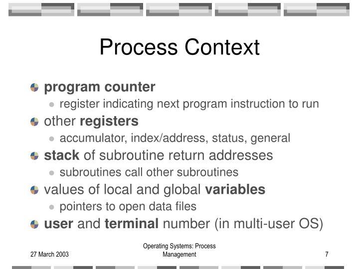 Process Context