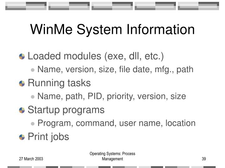 WinMe System Information