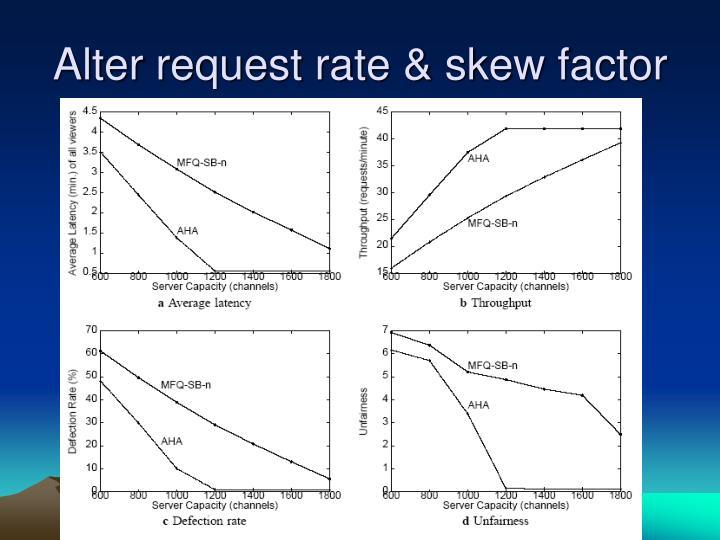 Alter request rate & skew factor