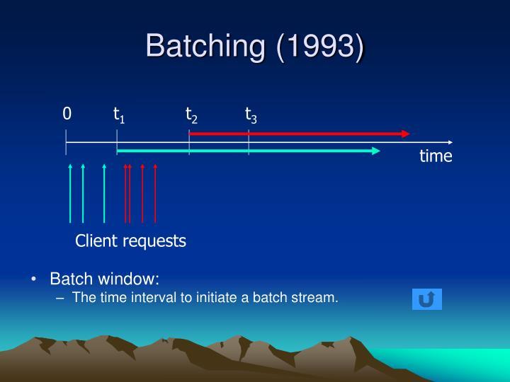Batching (1993)