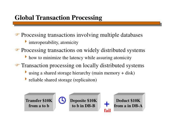 Global Transaction Processing
