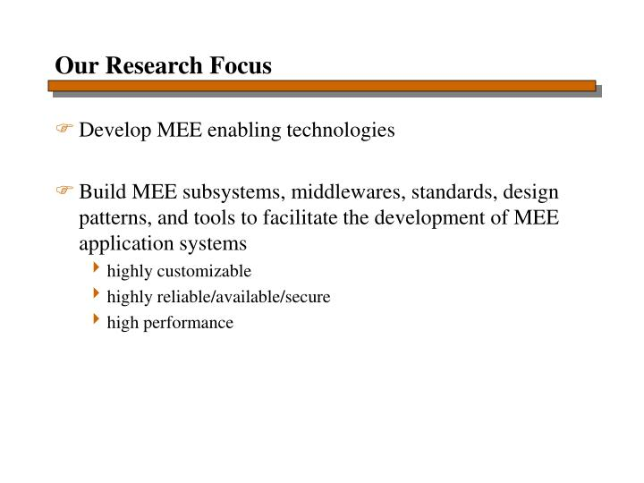 Our Research Focus
