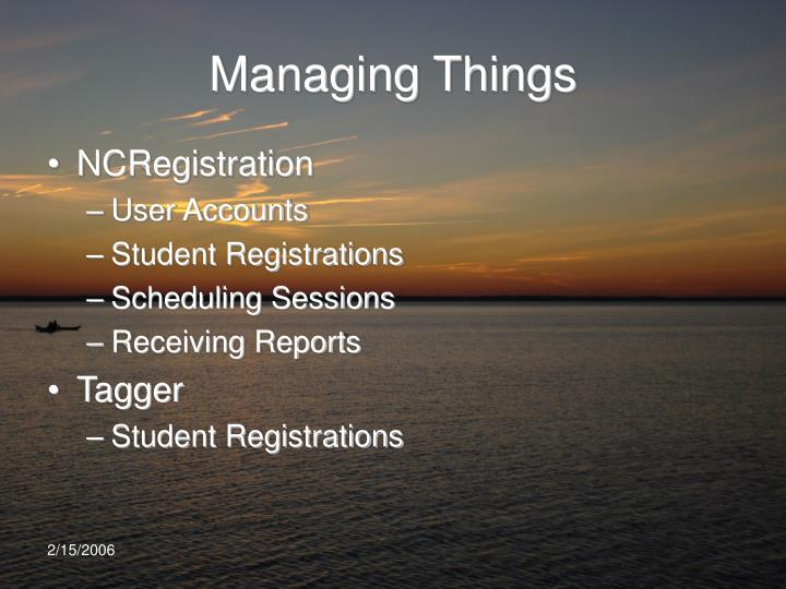 Managing Things