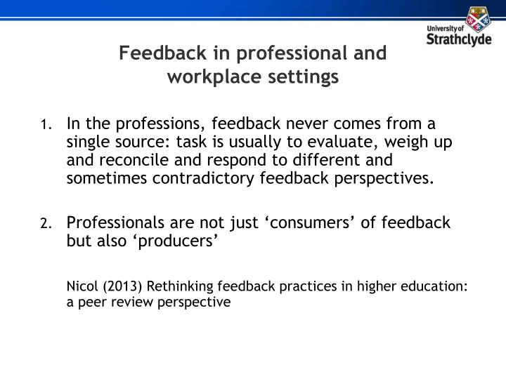 Feedback in professional and