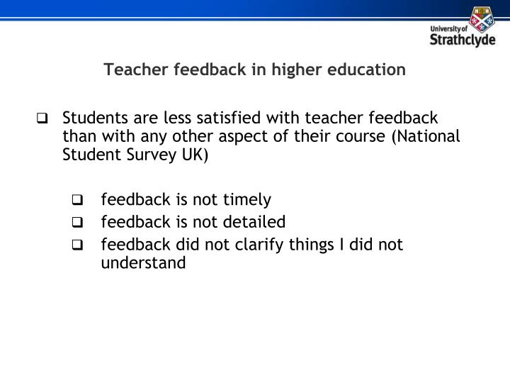 Teacher feedback in higher education