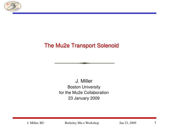 the mu2e transport solenoid