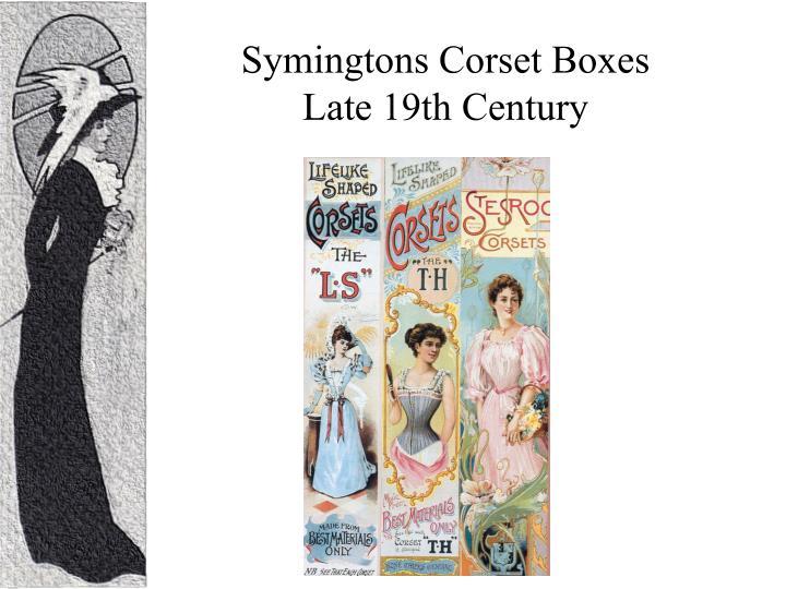 Symingtons Corset Boxes