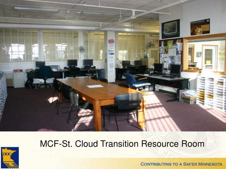 MCF-St. Cloud Transition Resource Room