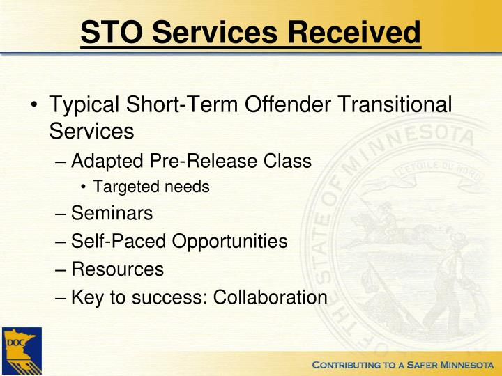 STO Services Received