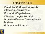 transition fairs