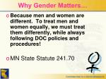 why gender matters