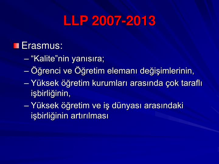 LLP 2007-2013