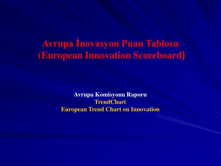 Avrupa İnovasyon Puan Tablosu