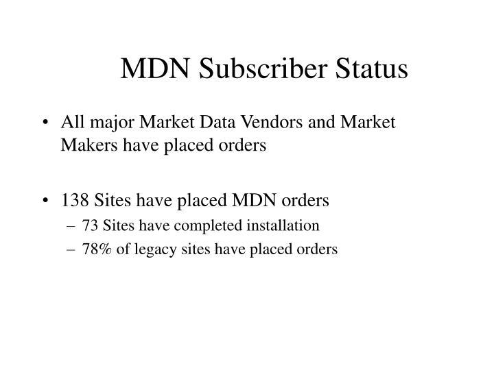 MDN Subscriber Status