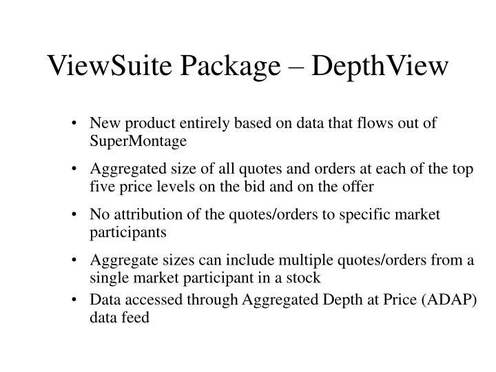 ViewSuite Package – DepthView