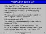 voip e911 call flow