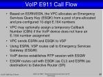 voip e911 call flow1