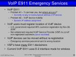 voip e911 emergency services